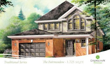 Traditional Series The Fairmeadow - Reid's Heritage Homes