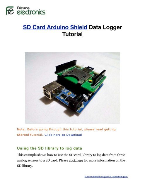 Using sd card with arduino