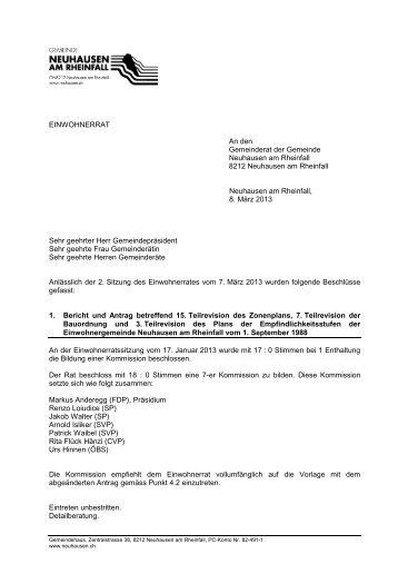 kurz 7.03.2013(PDF) - Gemeinde Neuhausen am Rheinfall