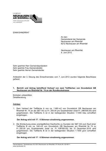 kurz 07.06.2012 (PDF) - Gemeinde Neuhausen am Rheinfall