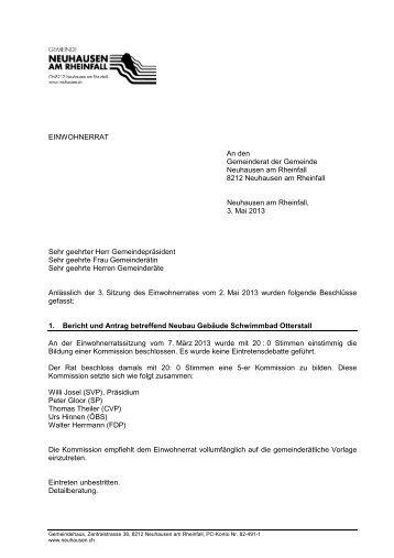 kurz 2.05.2013(PDF) - Gemeinde Neuhausen am Rheinfall