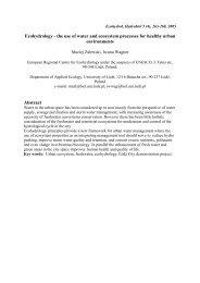 Aquatic Habitats in Vienna (Austria) – Integrating Ecology and