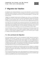 7 Migration der Tabellen - André Minhorst Verlag