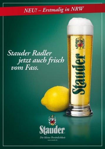 Produktblatt Radler vom Fass - Stauder