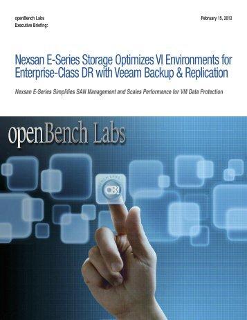 Nexsane E-Series Storage Optimizes VI Environments for Enterprise ...