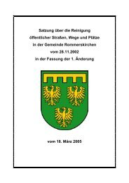 Satzung über die Reinigung öffentlicher Straßen ... - Rommerskirchen