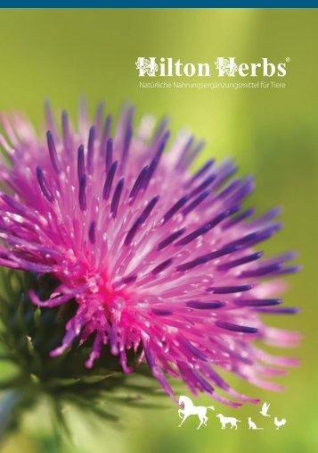 Klicken Sie hier, um unseren Katalog herunterzuladen - Hilton Herbs