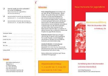 folder mentoren.indd - Neue Arbeit - Neue Kultur