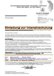 Einladung 2012 - Kurt König Baumaschinen GmbH