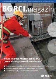 BG RCI Magazin Ausgabe 9/10 2010 - Berufsgenossenschaft ...