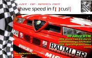 {have speed in f[ ]cus!} DTM History | Testtage Budapest