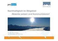 Nachhaltigkeit im Skigebiet Akzente setzen und ... - Seilbahn.net