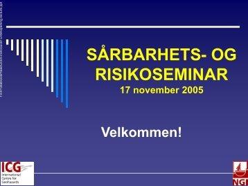 Årlig samtale Norges forskningsråd NGI 29. april 2005