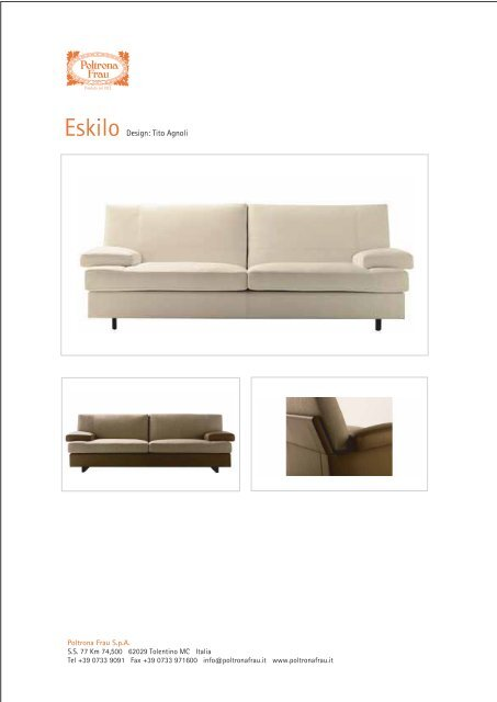 Eskilo Poltrona Frau.Eskilo Design Tito Agnoli Room Su