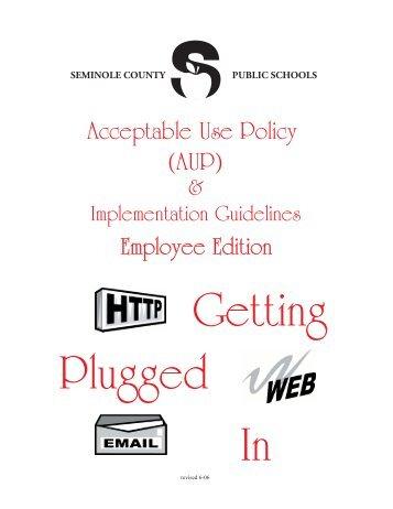 Acceptable Use Policy (AUP) - Seminole County Schools