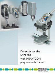 Directly on the DIN rail – with HEAVYCON plug ... - Phoenix Contact