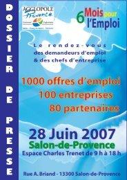 D O S S I E R D E P R E S S E - Agglopole Provence