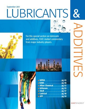 For this special section on lubricants and additives, FUEL ... - tabpi