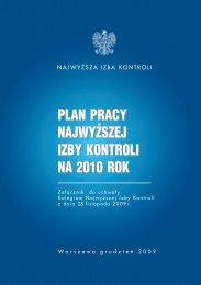 Plan pracy Najwyższej Izby Kontroli na 2010 rok (plik PDF, 430 KB)