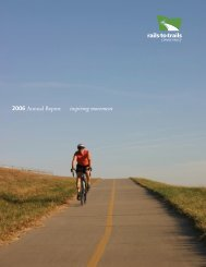 2006 Annual Report inspiring movement - Rails-to-Trails Conservancy