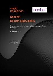 Background document - Nominet