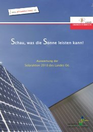 Auswertung der Solar-Aktion 2010 des Landes OÖ - Klimarettung