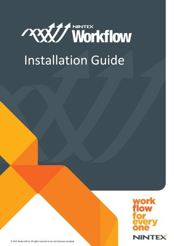 Nintex Workflow 2010 Installation Guide
