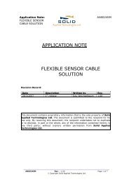Application Note: - Solid Applied Technologies Ltd.