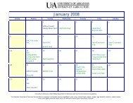Perry County 4-H Calendar - University of Arkansas Cooperative ...