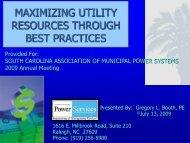 Maximizing Utility Resources Through Best Practices - Municipal ...