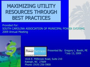Maximizing Utility Resources Through Best Practices - Municipal ...