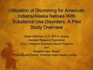Utilization of Drumming for American Indians/Alaska Natives With ...