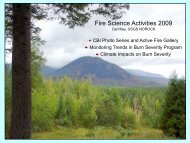 Fire Science Activities 2009 - Northern Rocky Mountain Science ...
