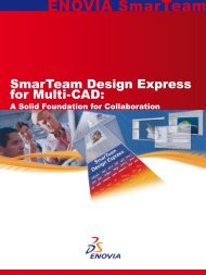 SmarTeam Design Express for Multi-CAD: - Dassault Systèmes