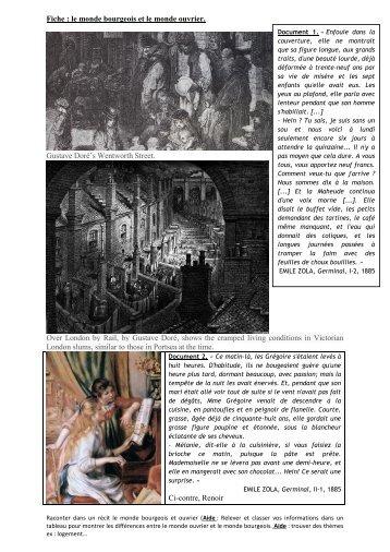 Fiche : le monde bourgeois et le monde ouvrier. Gustave Doré's ...