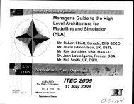 ITEC09 HLA Tutorial - Modeling & Simulation Coordination Office