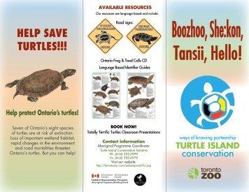 Turtle Island Brochure (pdf) - Toronto Zoo