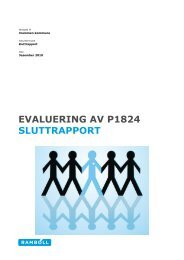 Ekstern evaluering - Drammen kommune