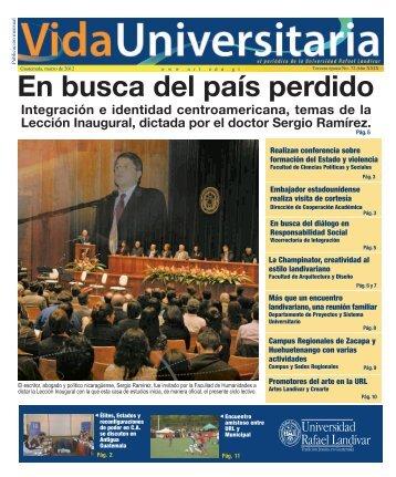 En busca del país perdido - Universidad Rafael Landívar