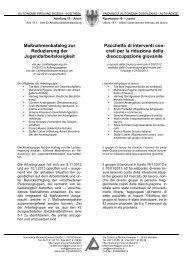 Maßnahmenkatalog zur Reduzierung der ... - Patto per il lavoro
