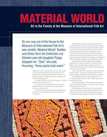 Material World - El Palacio Magazine