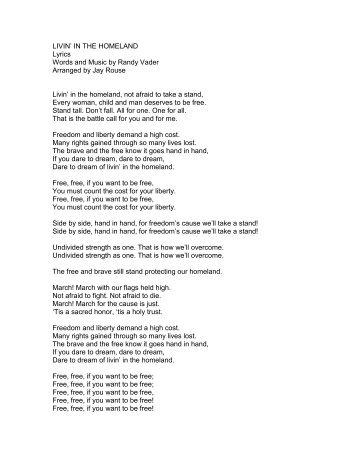 LIVIN' IN THE HOMELAND Lyrics Words and ... - PraiseGathering
