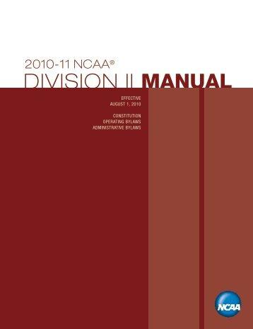 NCAA Division II Manual 10-11 - University of Minnesota, Crookston