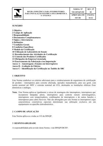 SUMÁRIO 1 Objetivo 2 Campo de Aplicação 3 ... - pucrs