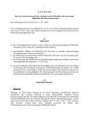 Allgemeine Entwässerungssatzung - Verbandsgemeinde Rennerod