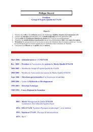 Expérience Professionnelle - GEQC Groupe d'Experts Qualité ...