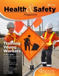 Health & Safety Magazine (Vol 12, Issue 1) - Infrastructure Health ...
