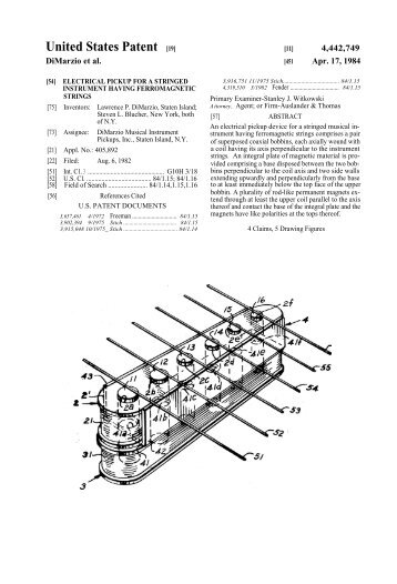United States Patent [19] - The Blue Guitar