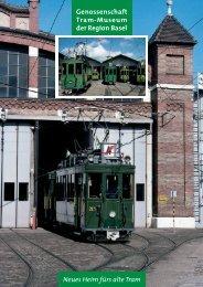 Info-Flyer - bei Tram-Oldtimer Basel
