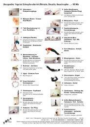 Übungsplan - kurze Darstellung - Yoga Vidya